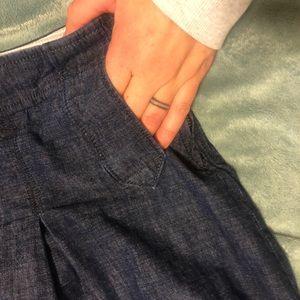 J. Crew Skirts - J. Crew women's denim pleated skirt, size 8